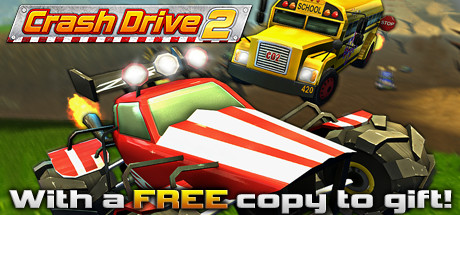 LazyGuysBundle – Steam game Crash Drive 2 by M2H for Windows, macOS, Linux and Steam OS as part of the Lazy Christmas 2018 at LazyGuysBundle.